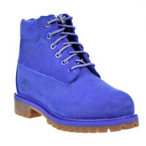 Timberland Kids 6 Inch Waterproof Boots Blue